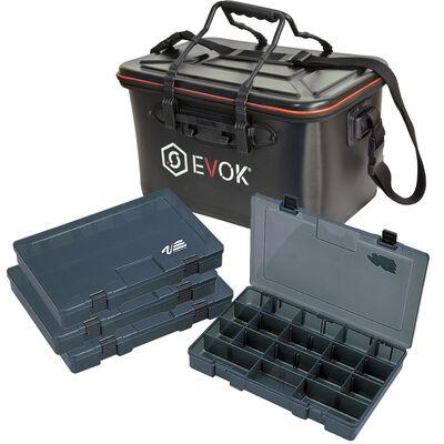 Pack bagagerie carnassier evok bakkan eva + 4 boîtes versus vs-3040 (1 boîte offerte) - Packs | Pacific Pêche