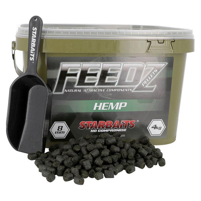 Pellets d'amorçages carpe starbaits feedz hemp 8mm - Amorçages | Pacific Pêche