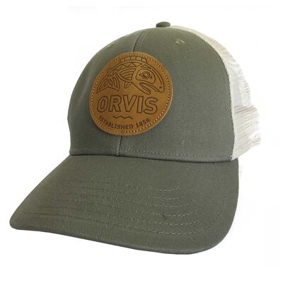 Casquette orvis cascadia leather patch hat trucker - Casquettes | Pacific Pêche