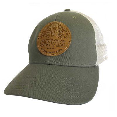 Casquette orvis cascadia leather patch hat trucker - Casquettes   Pacific Pêche