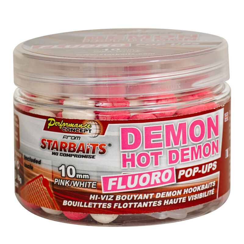 Bouillettes flottantes carpe performance.con hot demon fluo popup - Flottantes | Pacific Pêche