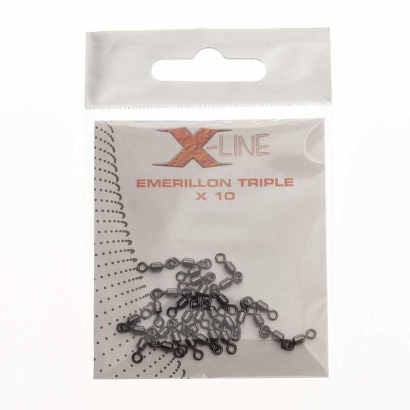 Émerillon triple carnassier x-line (x10) - Emerillons | Pacific Pêche