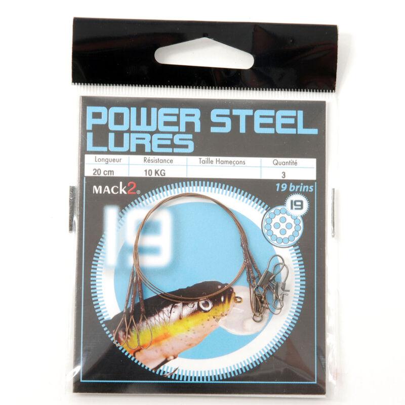 Bas de ligne acier carnassier x-line power steel 19 brins spécial leurres 20cm (x3) - Bas de ligne montés   Pacific Pêche