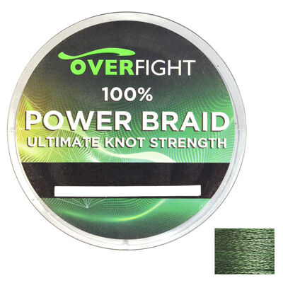 Tresse silure overfight powerbraid verte - Tresses | Pacific Pêche