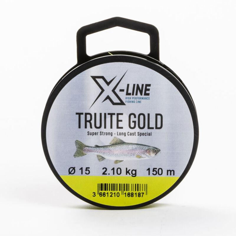Fil nylon jaune fluo x-line truite gold 150 m - Fils-nylons | Pacific Pêche