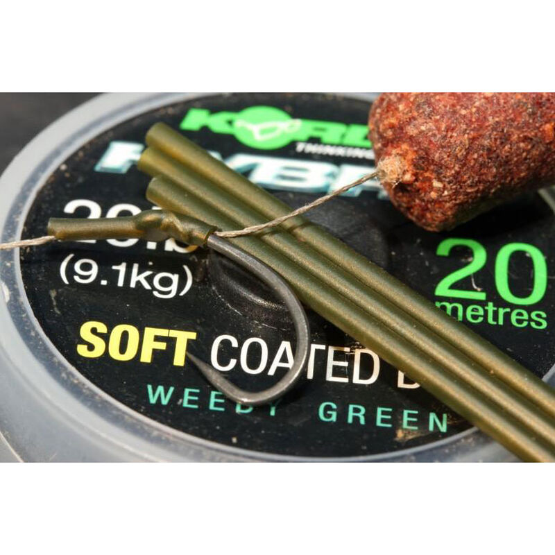 Gaine thermorétractable carpe korda safe zone shrink tube weedy green - Thermo   Pacific Pêche