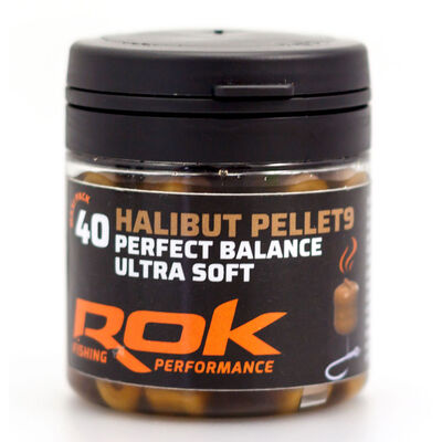 Pellets artificiels carpe rok halibut pellet 9mm perf. bal. marron +dip (x40) - Imitations | Pacific Pêche