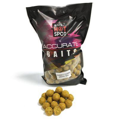 Bouillettes carpe mack2 accurate boilies sweet corn 20mm 1kg - Denses   Pacific Pêche