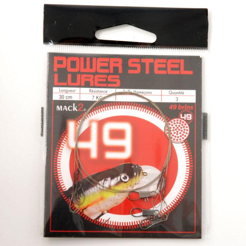 Bas de ligne acier carnassier x-line power steel 49 brins spécial leurres 30cm (x3) - Bas de ligne montés   Pacific Pêche