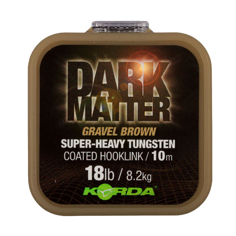 Tresse à bas de ligne korda dark matter tungsten coated braid gravel brown 10m - Tresse BDL   Pacific Pêche