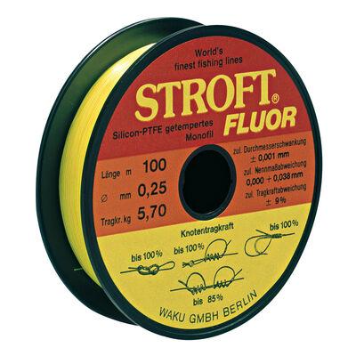 Fil nylon jaune stroft fluor 100m - Monofilaments | Pacific Pêche