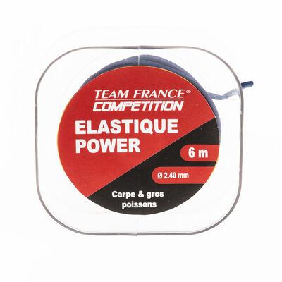 Elastique plein team france elastique power bobine de 6m - Elastiques | Pacific Pêche