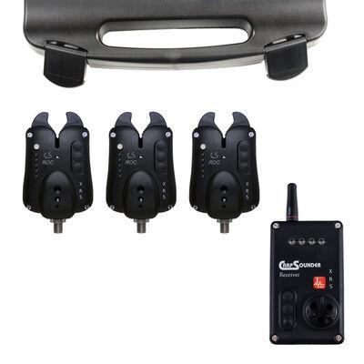 Coffret détecteurs carpe carpsounder set 3 roc xrs avec centrale - Coffrets détecteurs | Pacific Pêche