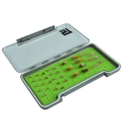 Boîte à mouche silverstone waterpro rubber slim/large (capacité 121 mouches) - Boîtes Mouches | Pacific Pêche