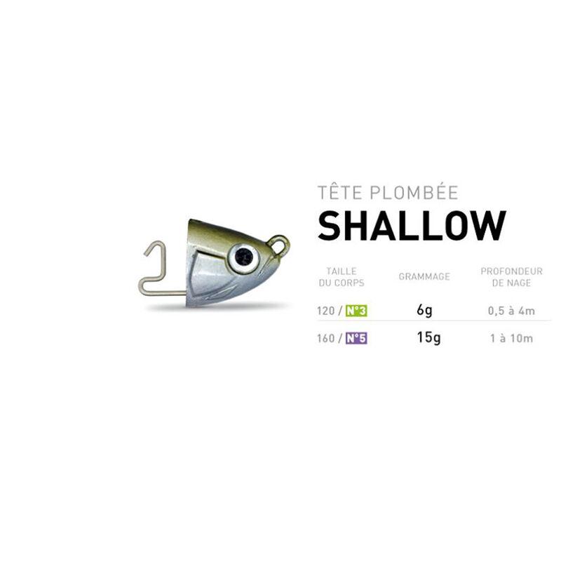 Tete plombee fiiish black minnow 120 shallow 6g (x2) - Têtes Plombées | Pacific Pêche