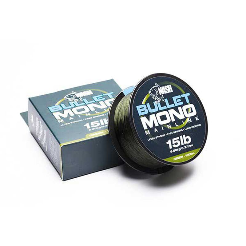 Nylon carpe nash bullet mono green 1000m - Monofilament | Pacific Pêche