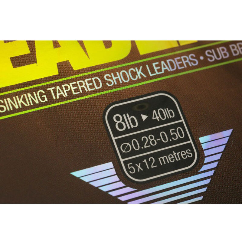 Tête de ligne carpe korda subline tapered leader (12m x5) - Tête de ligne | Pacific Pêche