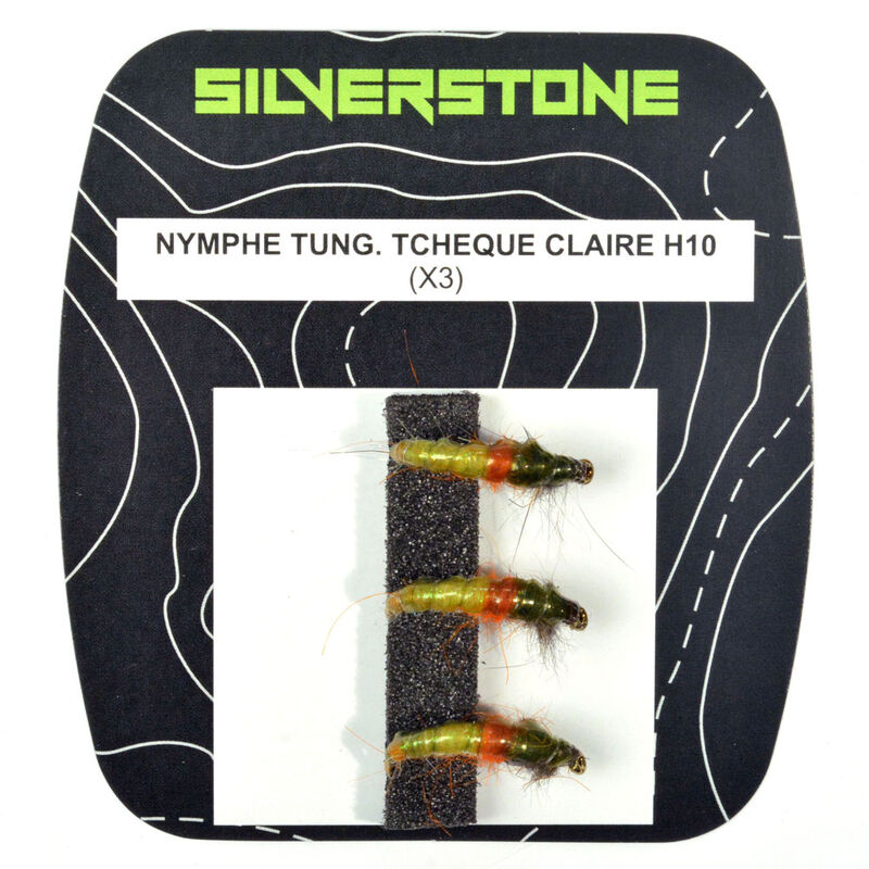 Nymphe tungstene silverstone tcheque claire (x3) - Nymphes | Pacific Pêche