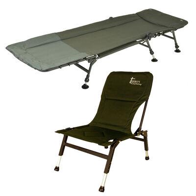Pack confort carpe team carpfishing bedchair process + level premium - Packs   Pacific Pêche