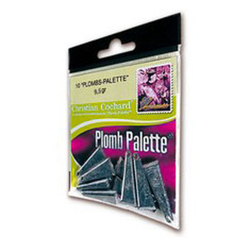 Plombs palette carnassier delalande (x10) - Plombs Palette   Pacific Pêche
