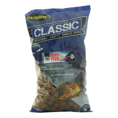 Bouillettes carpe fun fishing classic spicy fish 20mm - 4kg - Denses | Pacific Pêche
