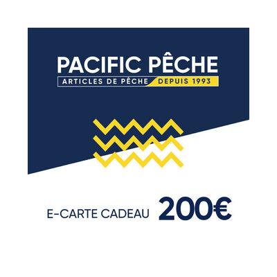 E-carte cadeau pacific pêche 200 euros - Cartes cadeau | Pacific Pêche