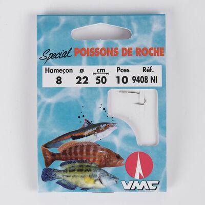 Pochette de 10 hameçons montés water queen spécial poissons de roche - Hameçons Montés | Pacific Pêche