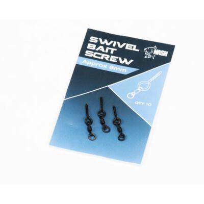 Vis à appâts nash swivel bait screw (10 vis par pochette) - Accroche appâts | Pacific Pêche