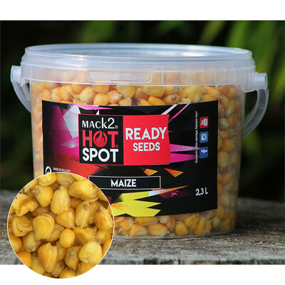 Graine cuite carpe mack2 ready made maize 2.3l - Prêtes à l'emploi | Pacific Pêche