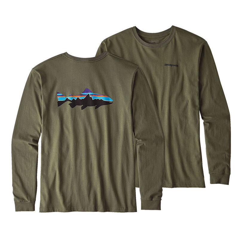 T-shirts à manches longues patagonia fitz roy industrial green - Tee-shirts | Pacific Pêche