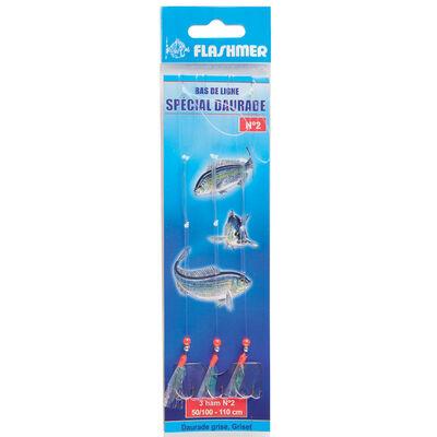 Bas de ligne a daurades mer flashmer daurade 3 hamecons - Bas de Lignes / Lignes Montées   Pacific Pêche