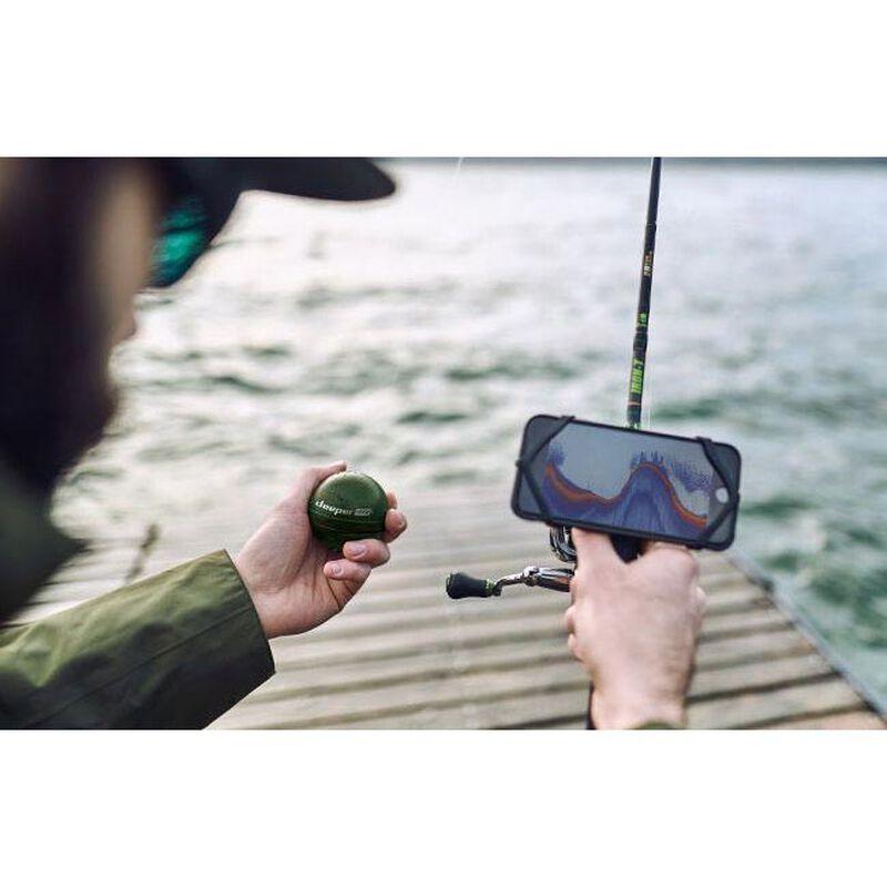Pack deeper smart sonar chirp plus + couvercle jaune + fixation universelle pour canne - Sondeurs   Pacific Pêche