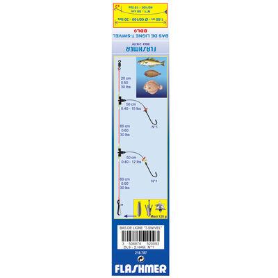 Bas de ligne mer flashmer t-swivel dl9 - Bas de Lignes / Lignes Montées | Pacific Pêche