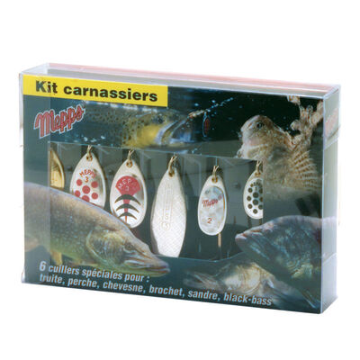 Kit 6 cuillères tournantes carnassier mepps - Packs | Pacific Pêche