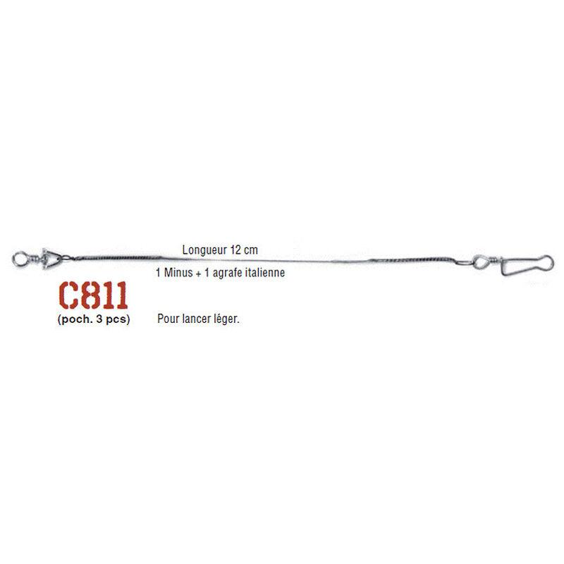 Bas de ligne acier monté carnassier cannelle avancon multiflex c811 12cm (x3) - Bas de ligne montés | Pacific Pêche