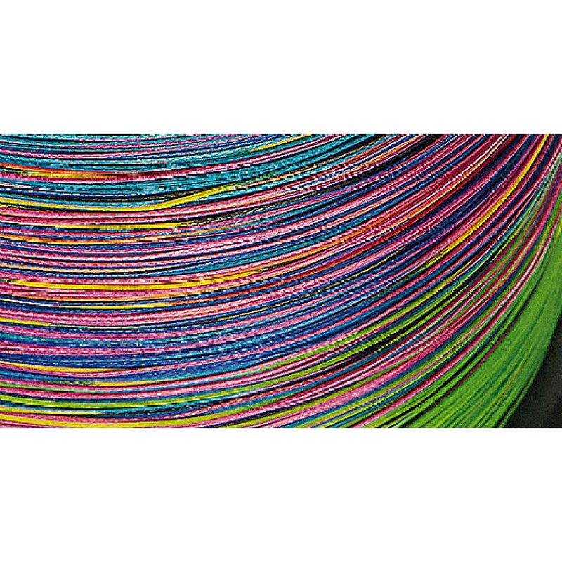Tresse daiwa jbraid 8 brins multi-color 1500m - Tresses | Pacific Pêche