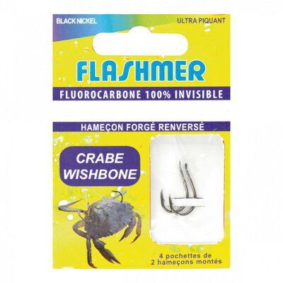Hameçons montés flashmer crabe wishbone 100% fluorocarbone - Bas de Lignes / Lignes Montées | Pacific Pêche
