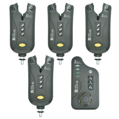 Coffret 4 détecteurs carpe team carpfishing black buster xe + centrale - Coffrets détecteurs   Pacific Pêche