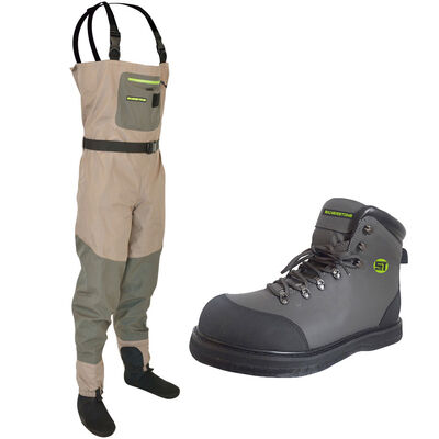 Pack wading silverstone wader easymove sl 3 + chaussures feutre - Packs | Pacific Pêche