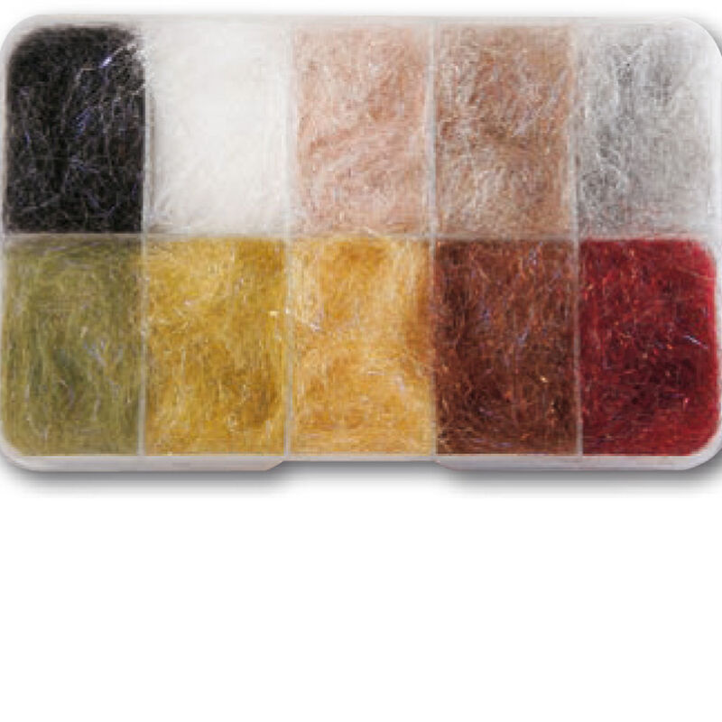 Fly tying dubbing cross dub uv jmc boite 10 coloris - Dubbings | Pacific Pêche