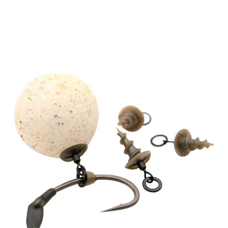 Emerillons micro ring swivel bait screw (x5) - Emerillons carpe | Pacific Pêche