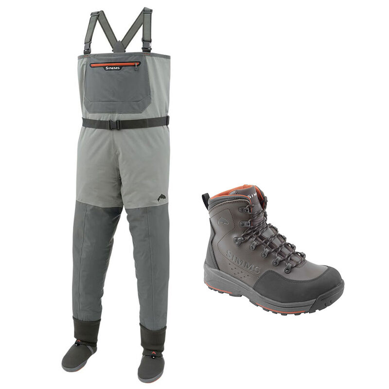 Pack wading simms wader freestone + chaussure feutre - Packs wading   Pacific Pêche