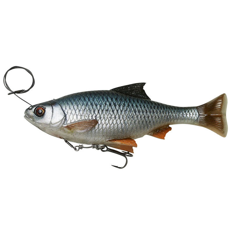 Leurre souple shad carnassier savage gear 4d line thru pulse tail roach 18cm 90g ss - Shads | Pacific Pêche