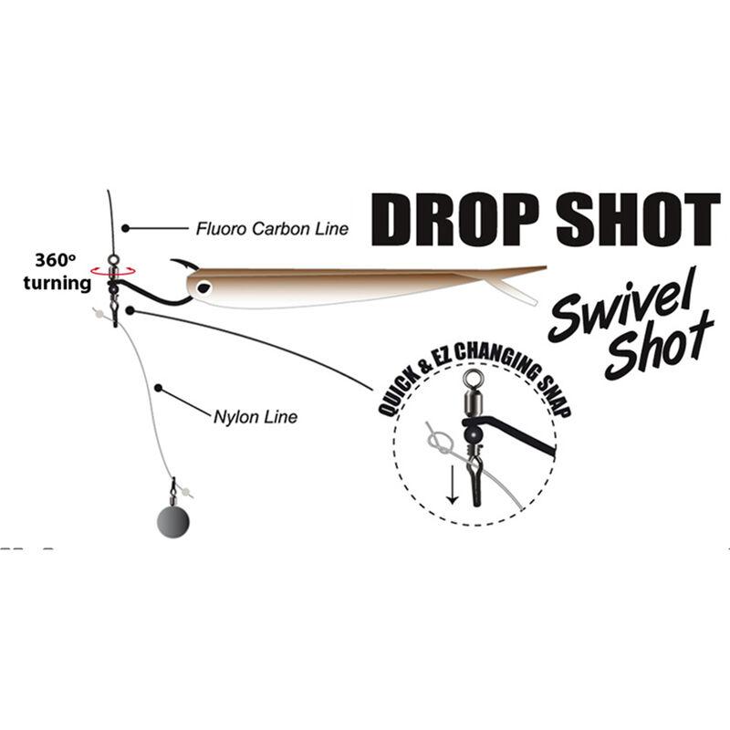 Hameçon simple drop shot carnassier gamakatsu swivel shot (x3) - Simples | Pacific Pêche