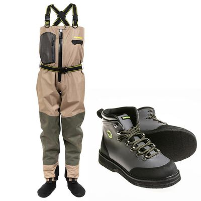 Pack wader respirant silverstone hardwater pro zip + chaussures feutre - Packs | Pacific Pêche