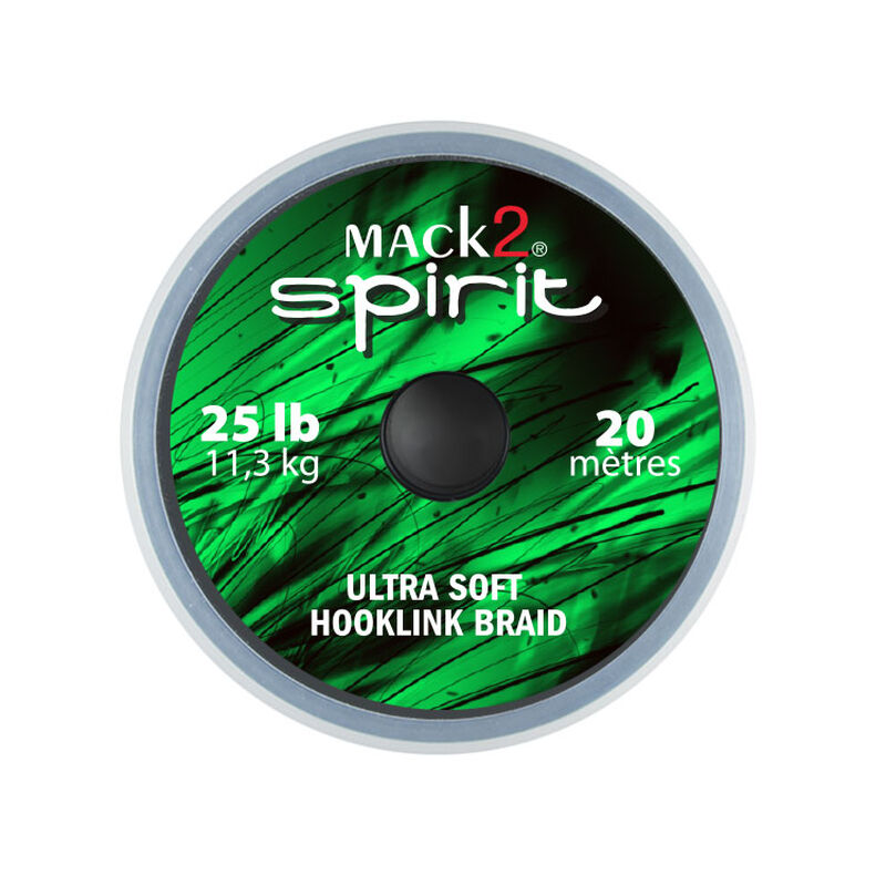 Tresse à bas de ligne carpe mack2 spirit ultra soft hooklink braid 20m - Tresse BDL | Pacific Pêche