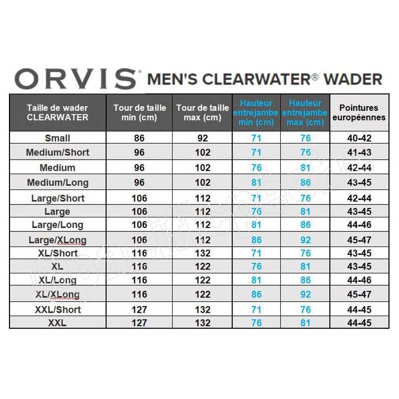 Wader respirant orvis clearwater - Respirant   Pacific Pêche