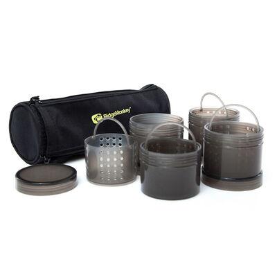 Pots à booster ridge monkey modular hookbait pots black - Sacs à Appâts | Pacific Pêche