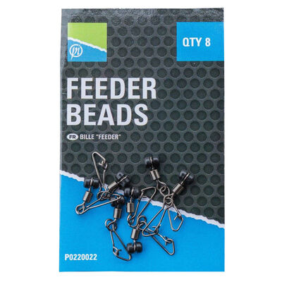 Perles coulissantes coup preston feeder beads (x8) - Emerillons / Agrafes / Perles | Pacific Pêche