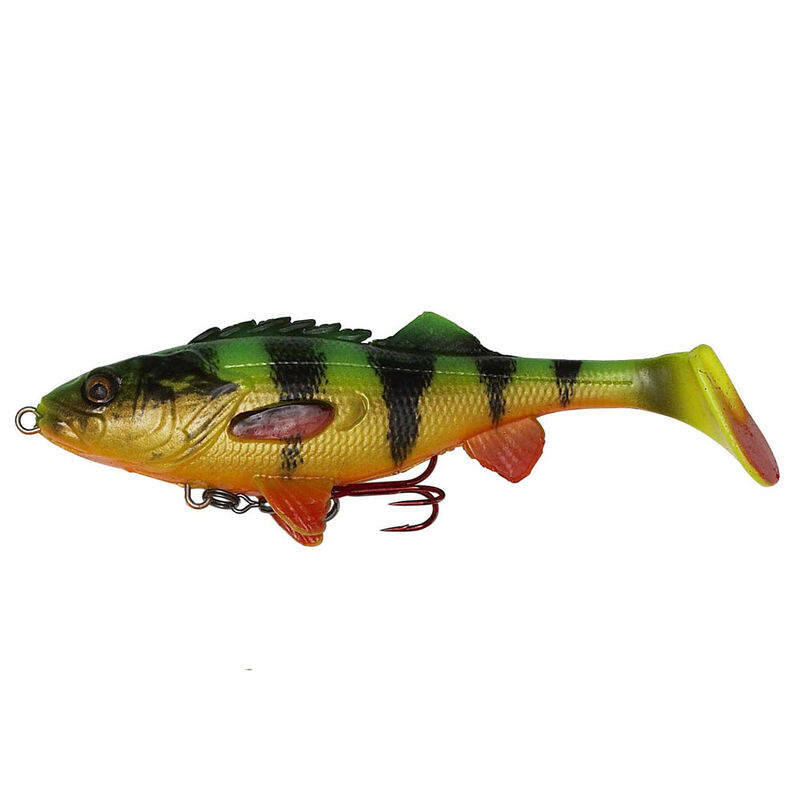 Leurre souple shad carnassier savage gear 4d perch shad ss 12.5cm 25g - Leurres shads | Pacific Pêche